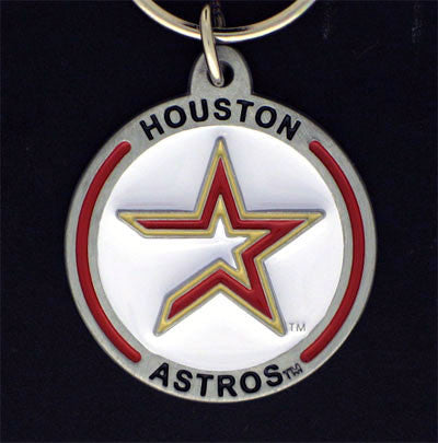 Houston Astros Carved Metal Key Chain