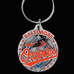 Baltimore Orioles Carved Metal Key Chain