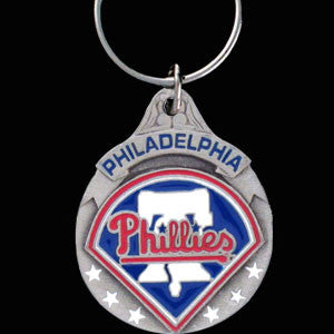 Philadelphia Phillies Carved Metal Key Chain