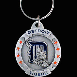 Detroit Tigers Carved Metal Key Chain