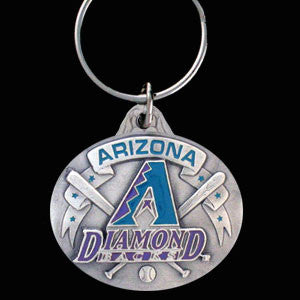 Arizona Diamondbacks Oval Carved Metal Key Chain