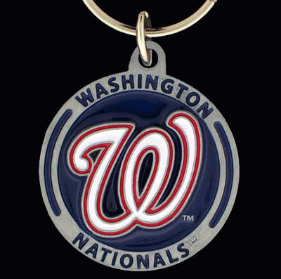 Washington Nationals Carved Metal Key Chain