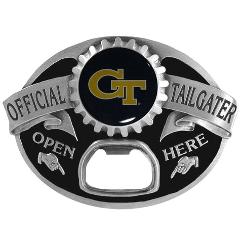 Georgia Tech Yellow Jackets Tailgater Belt Buckle