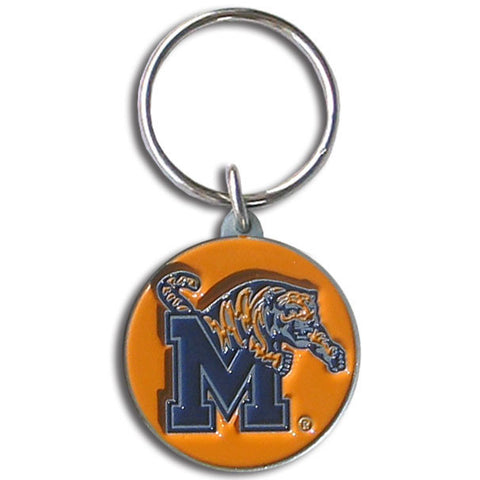 Memphis Tigers Carved Metal Key Chain