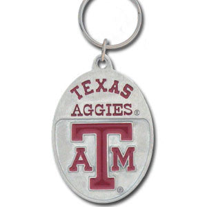 Texas A & M Aggies Carved Metal Key Chain