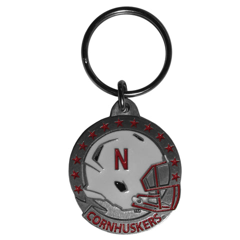 Nebraska Cornhuskers Carved Metal Key Chain