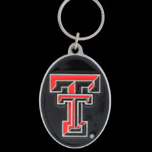 Texas Tech Raiders Carved Metal Key Chain