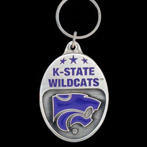 Kansas St. Wildcats Carved Metal Key Chain