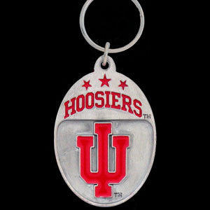 Indiana Hoosiers Carved Metal Key Chain