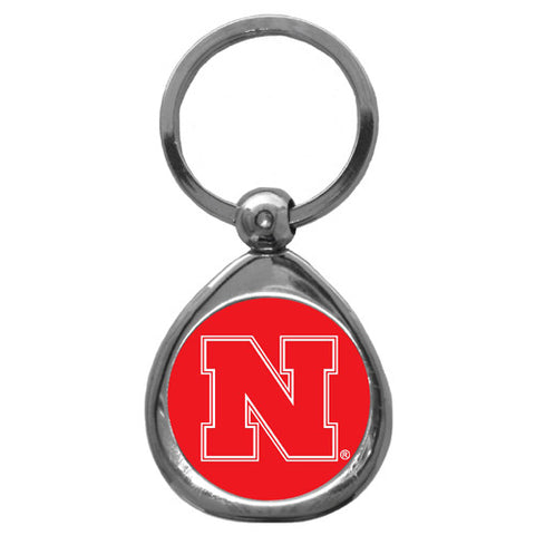 Nebraska Cornhuskers Chrome Key Chain