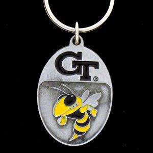 Georgia Tech Yellow Jackets Carved Metal Key Chain