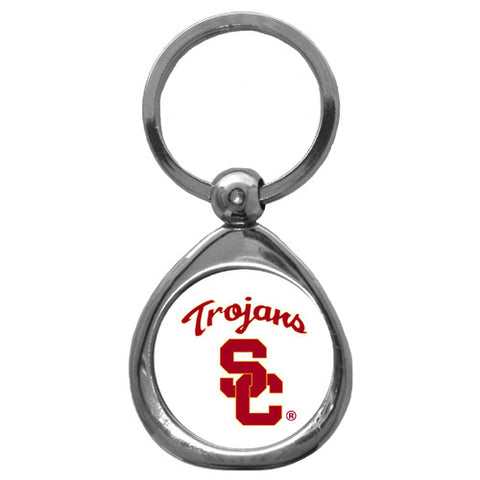 USC Trojans Chrome Key Chain