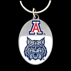 Arizona Wildcats Carved Metal Key Chain