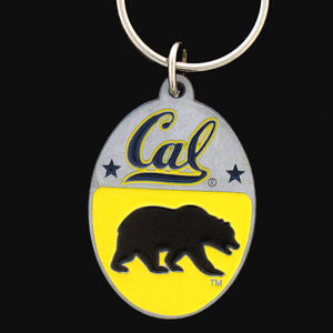 Cal Berkeley Bears Carved Metal Key Chain