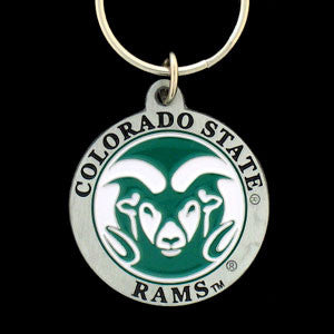 Colorado St. Rams Carved Metal Key Chain