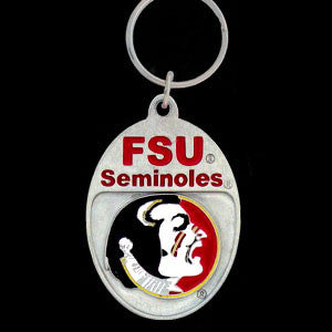 Florida St. Seminoles Carved Metal Key Chain