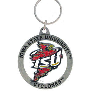 Iowa St. Cyclones Carved Metal Key Chain