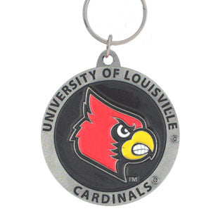 Louisville Cardinals Carved Metal Key Chain