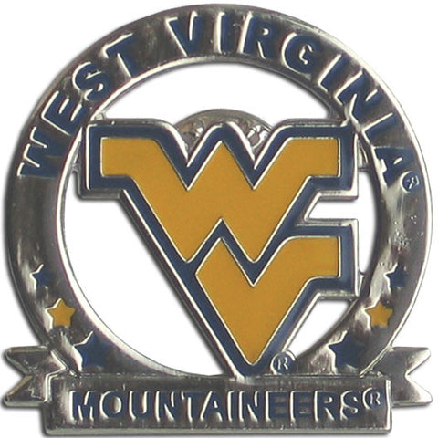 W. Virginia Mountaineers Glossy Team Pin