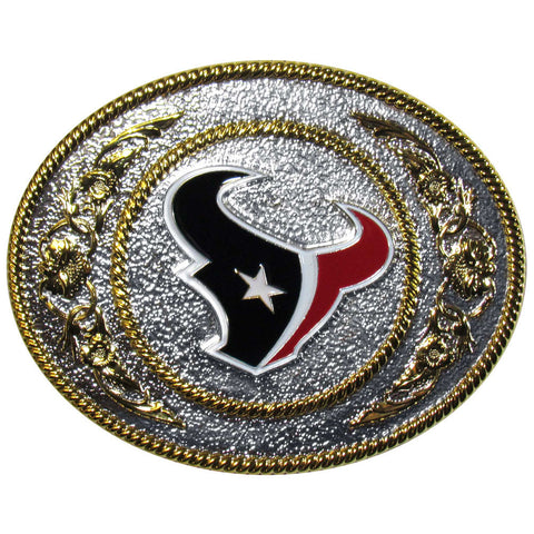 Houston Texans 2-Toned Belt Buckle
