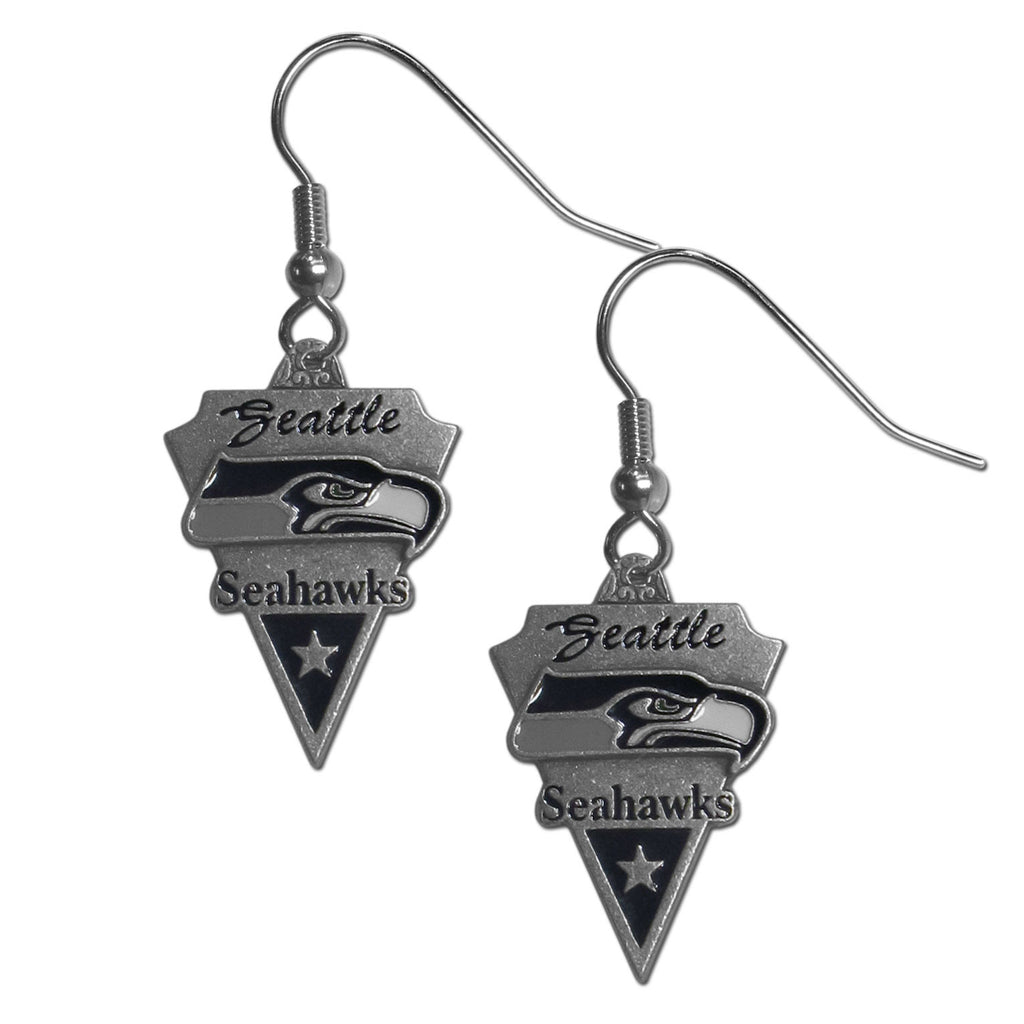 Seattle Seahawks Classic Dangle Earrings - SFE155