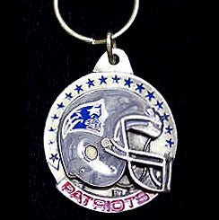New England Patriots Carved Metal Key Chain