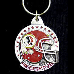 Washington Redskins Carved Metal Key Chain