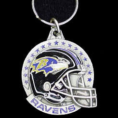 Baltimore Ravens Carved Metal Key Chain