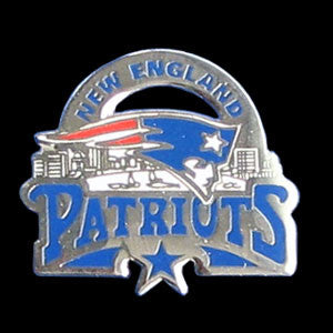 New England Patriots Glossy Team Pin