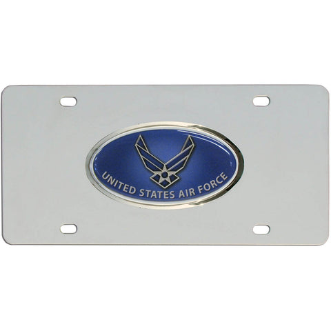 Air Force Steel License Plate