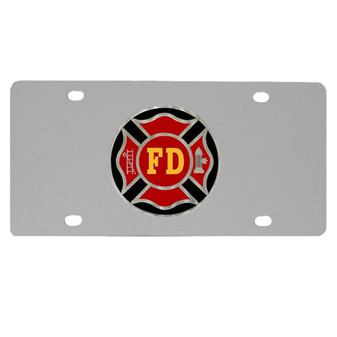 Firefigher Logo License Plate