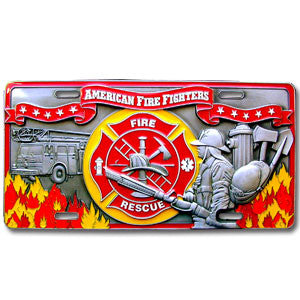 Fire Fighter - 3D License Plate