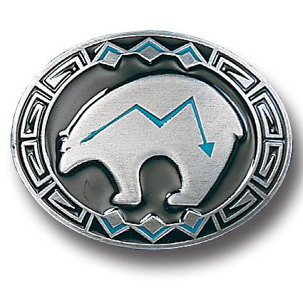 Bear Fetish  Enameled Belt Buckle