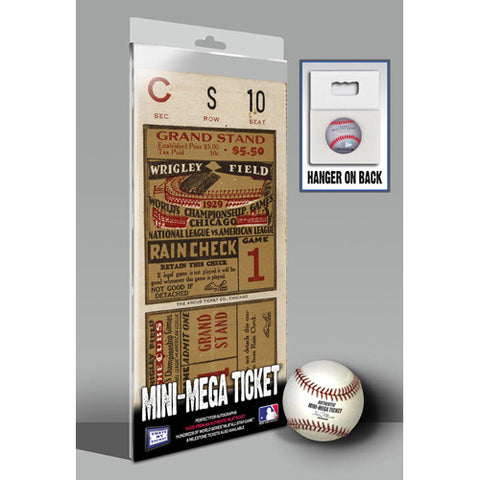1929 World Series Mini-Mega Ticket - Chicago Cubs