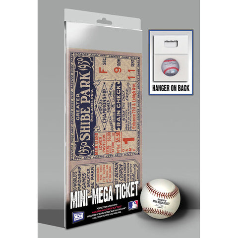 1930 World Series Mini-Mega Ticket - Oakland Athletics