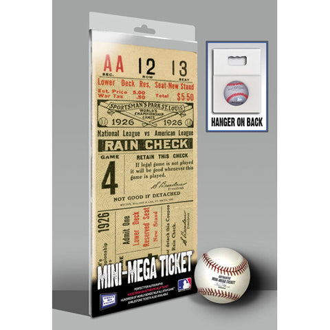 1926 World Series Mini-Mega Ticket - St Louis Cardinals