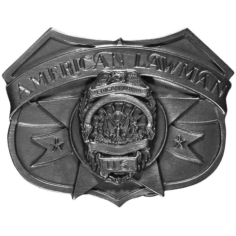 American Lawman Antiqued Belt Buckle