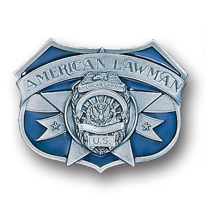 American Lawman  Enameled Belt Buckle