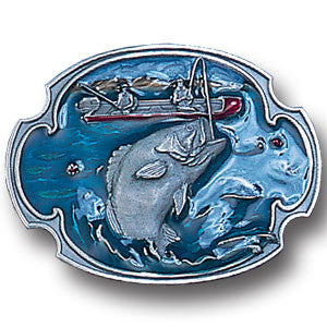 Bass Fishing  Enameled Belt Buckle