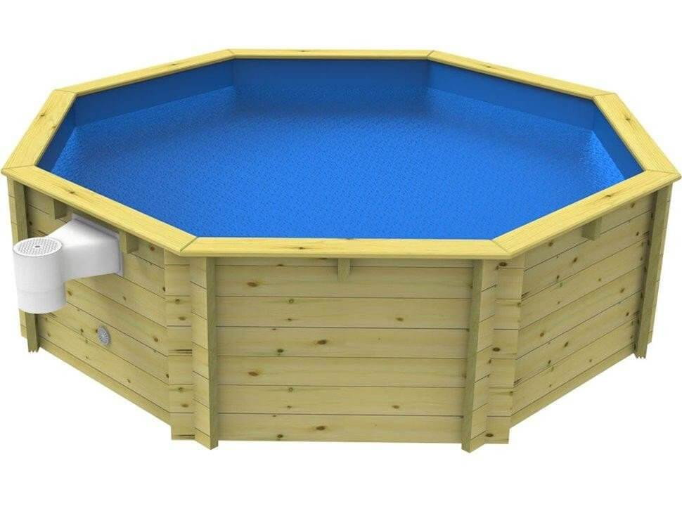 10ft Plastica Wooden Fun Pools - 3ft & 4ft Depths - H2oFun.co.uk