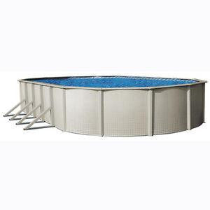 30ft x 15ft Oval Steel Wall Pool - 42