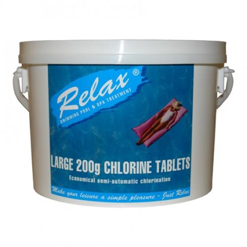 Relax Large Chlorine Tablets - H2oFun.co.uk