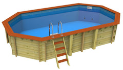 Bayswater 3.6 x 6.5m Plastica Wooden Pool - H2oFun.co.uk