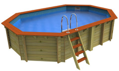 Belgravia 5.5 x 3.6m Plastica Wooden Pool - H2oFun.co.uk