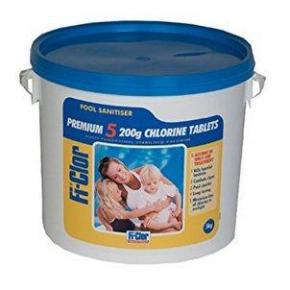 Fi-Clor Premium 5 Tablets - 200g Tablets For Swimming Pools - H2oFun.co.uk