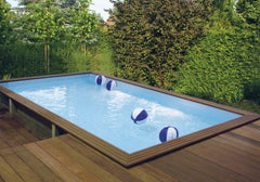 Gardipool Quartoo Rectangle Wooden Pool - H2oFun.co.uk