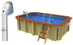 Plastica Wooden Exercise Pool With Over The Wall Counter Current Jet - H2oFun.co.uk