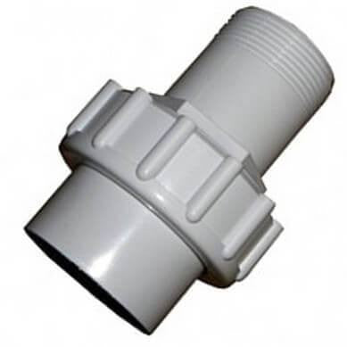 Swimming Pool Male Threaded Union 1.5 Inch White PVC - H2oFun.co.uk