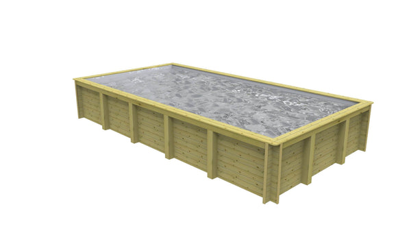 Nazca 8m x 4m Wooden Lap Pool