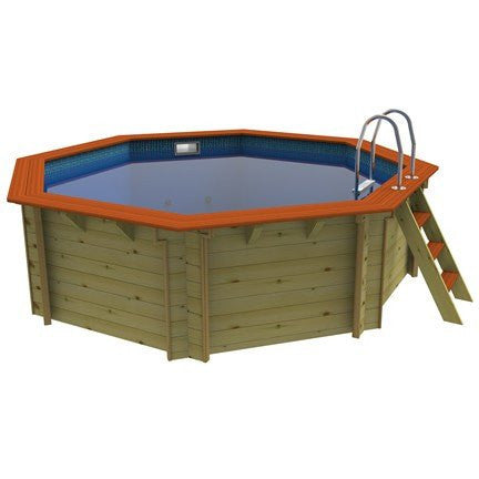 4m Knightsbridge Plastica Wooden Pools - H2oFun.co.uk